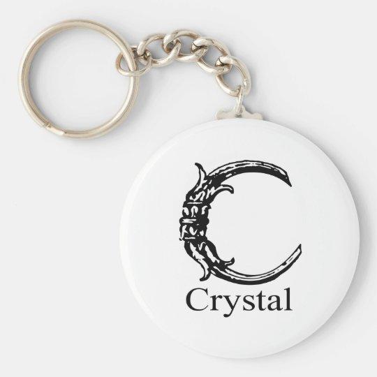 Fancy Monogram: Crystal Keychain