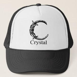 Fancy Monogram: Crystal Trucker Hat