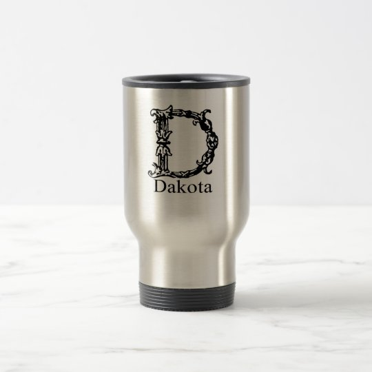 Fancy Monogram: Dakota Travel Mug
