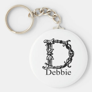 Fancy Monogram: Debbie Keychain