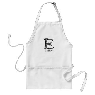 Fancy Monogram: Elaine Adult Apron