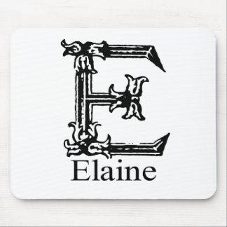 Fancy Monogram: Elaine Mouse Pad