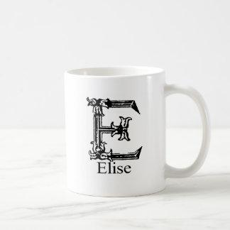 Fancy Monogram: Elise Coffee Mug