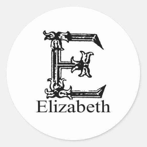 Fancy Monogram: Elizabeth Stickers