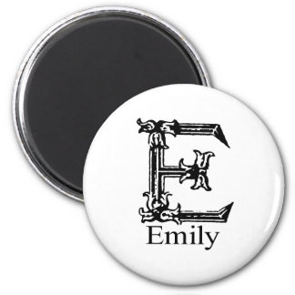Fancy Monogram: Emily Magnet
