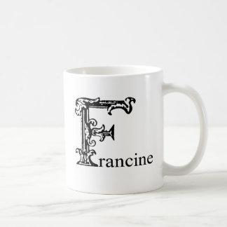 Francine coffee travel mugs zazzle - Fancy travel coffee mugs ...
