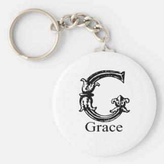 Fancy Monogram: Grace Keychain