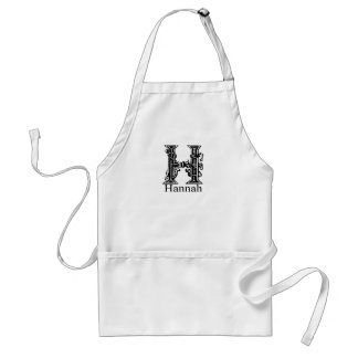 Fancy Monogram: Hannah Adult Apron