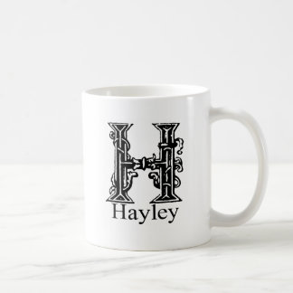 Fancy Monogram: Hayley Coffee Mug