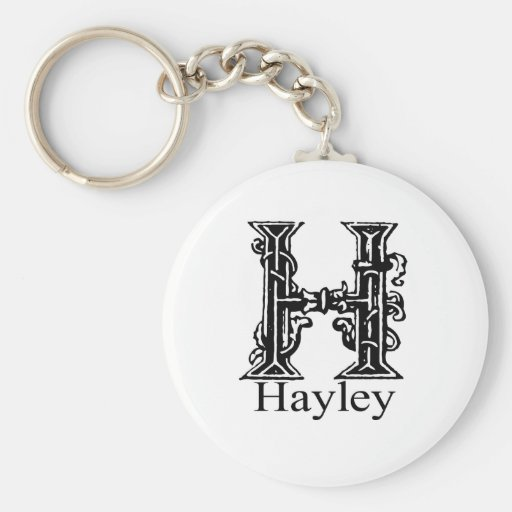 Fancy Monogram: Hayley Keychain