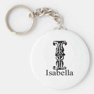 Fancy Monogram: Isabella Keychain