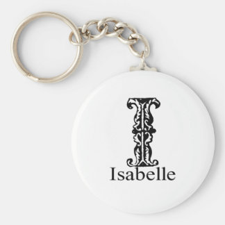 Fancy Monogram: Isabelle Keychain