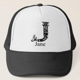 Fancy Monogram: Jane Trucker Hat