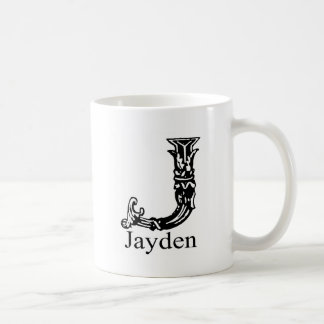 Fancy Monogram: Jayden Coffee Mug