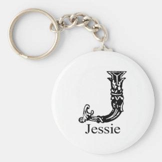Fancy Monogram: Jessie Keychain