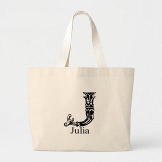 Fancy Monogram: Julia Canvas Bags