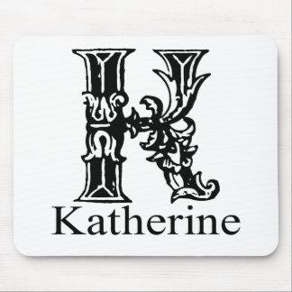 Fancy Monogram: Katherine Mouse Pad