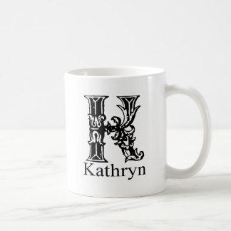 Fancy Monogram: Kathryn Coffee Mug