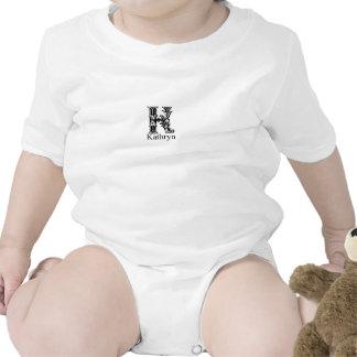 Fancy Monogram: Kathryn Baby Bodysuit