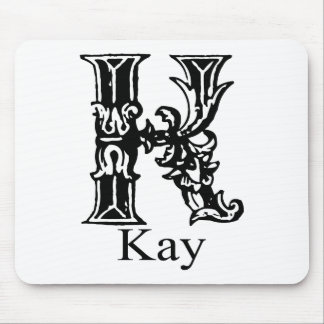 Fancy Monogram: Kay Mouse Pad