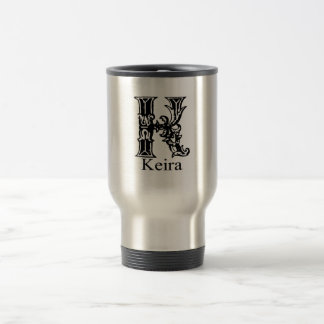 Fancy Monogram: Keira 15 Oz Stainless Steel Travel Mug