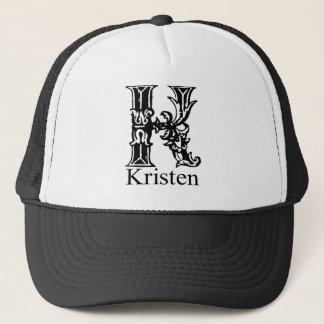 Fancy Monogram: Kristen Trucker Hat