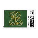 Fancy Monogram Letter B Stamp