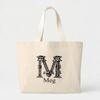 Fancy Monogram: Meg Large Tote Bag