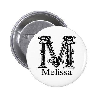 Fancy Monogram: Melissa Button