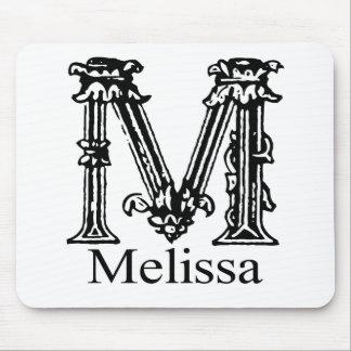 Fancy Monogram Melissa Mouse Pads