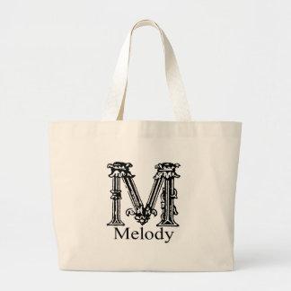 Fancy Monogram Melody Canvas Bag