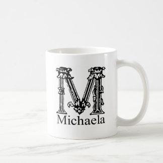 Fancy Monogram: Michaela Coffee Mug
