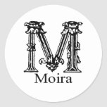 Fancy Monogram: Moira Sticker