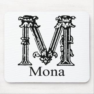 Fancy Monogram: Mona Mouse Pad