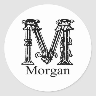 Fancy Monogram: Morgan Classic Round Sticker