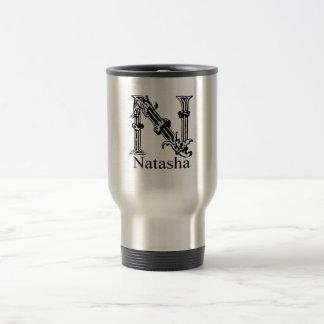 Fancy Monogram: Natasha Travel Mug