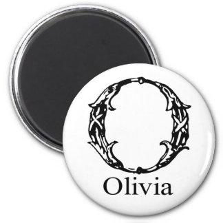 Fancy Monogram: Olivia Fridge Magnet