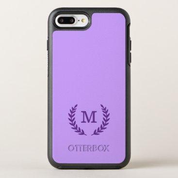 monogram_bouquet Fancy Monogram OtterBox Symmetry iPhone 7 Plus Case