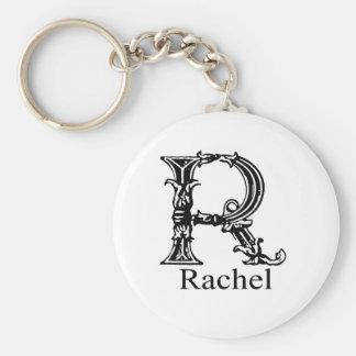 Fancy Monogram: Rachel Keychains