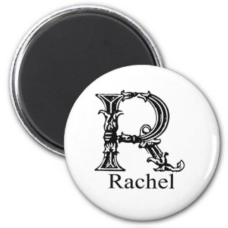 Fancy Monogram: Rachel Magnet