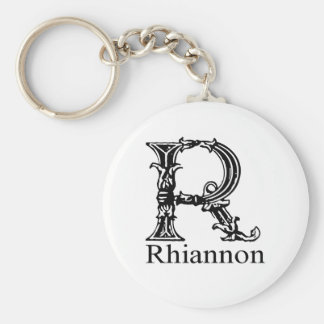 Fancy Monogram: Rhiannon Keychain