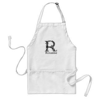 Fancy Monogram: Roxanne Adult Apron