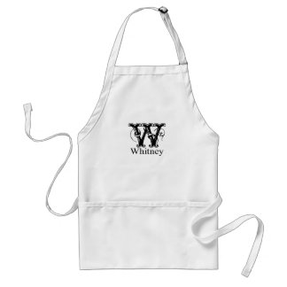 Fancy Monogram: Whitney Adult Apron