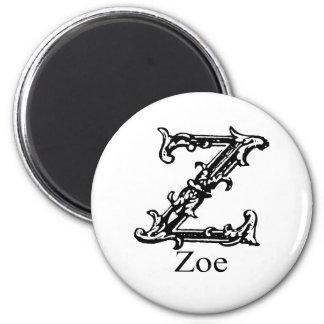 Fancy Monogram: Zoe Magnet