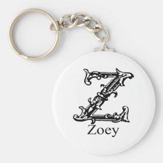 Fancy Monogram: Zoey Keychains