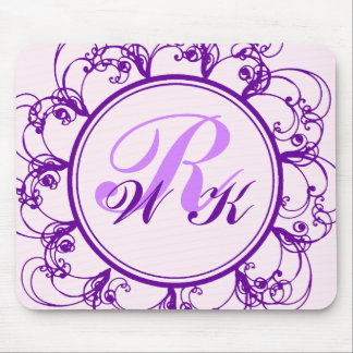 Fancy Monogrammed Mouse Pad