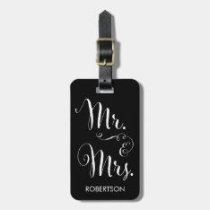 Fancy Mr. & Mrs. Luggage Tag at Zazzle