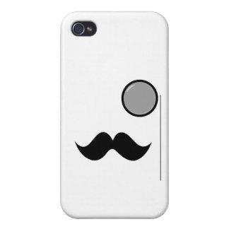 Fancy Mustache & Monocle iPhone 4/4S Case
