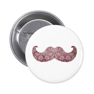 Fancy mustache pinback button