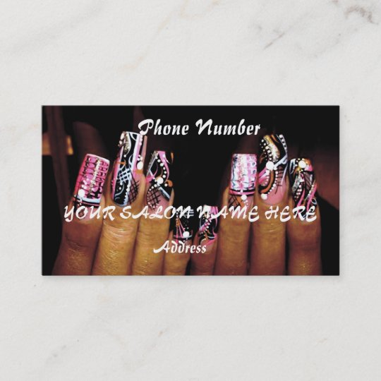 Fancy nail business card template nail salon zazzle fancy nail business card template nail salon accmission Images